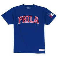 Mitchell and Ness Philadelphia 76ers Mens Short Sleeve Fashion T-Shirt - Royal