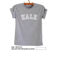 Kale TShirt Fresh Tops Tumblr Kale Tee Shirt Hipster University College T Shirt Kale Clothing Vegan Shirt Sweatshirt Gift Instagram