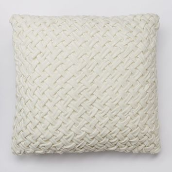 SONOMA life + style Gwynn Ruched Throw Pillow (White)