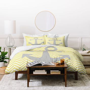 Lara Kulpa Yellow Anchor Duvet Cover