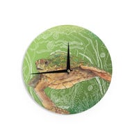 "Catherine Holcombe ""Shelley Green Sea"" Wall Clock"