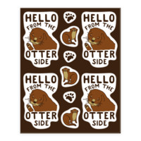 HELLO FROM THE OTTER SIDE STICKER SHEET