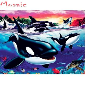 5D Diamond Painting Pod of Orcas Kit