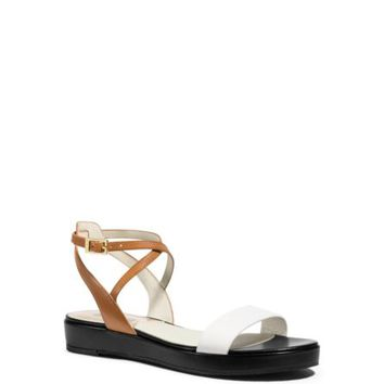 Kaylee Color-Block Leather Sandal | Michael Kors