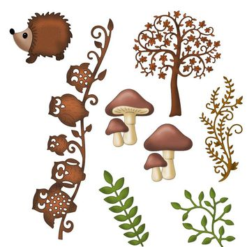Estel Tree Vine Owl for Thanksgiving Metal Cutting Dies Stencils for DIY Scrapbooking album Decor Embossing Hand-on Paper Cards