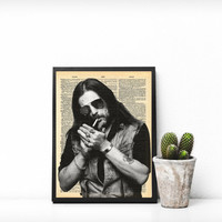 Lemmy Kilmister Wall Art, Lemmy Kilmister INSTANT DOWNLOAD, Motorhead Print, Lemmy Kilmister Portrait, Lemmy Dictionary Wall Art, Lemmy