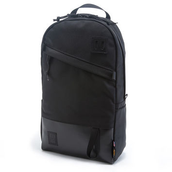 Topo Designs Ballistic Black & Black Leather