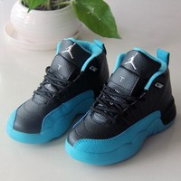 Air Jordan 12 Retro Gamma Blue Kid Shoes Child Sports Shoes - Best Deal Online