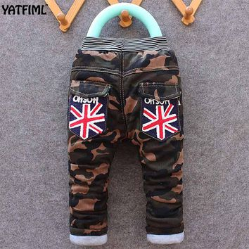 YATFIML 2017 Autumn Winter Fashion baby cotton camouflage long pants Children's clothing Kids boy sport Camo cargo trousers 2-5T