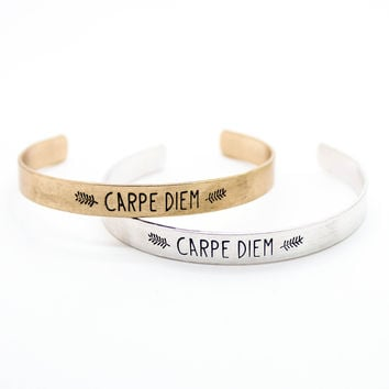 Carpe Diem bangle bracelet