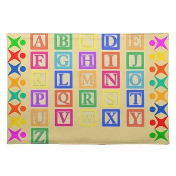 Block Letters Cloth Placemat