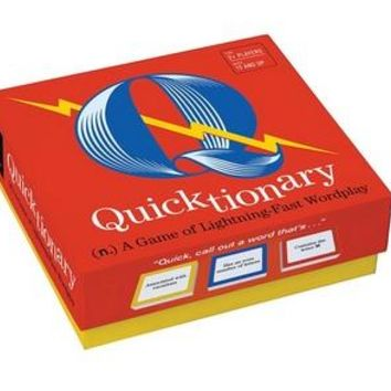 Quicktionary  (n.) A Game of Lightning-Fast Wordplay