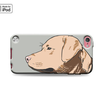 Labrador Retriever Sketch Dog Pointing Hunting Looking Lab Cute Puppy Dogs Rubber Case for iPod Touch 6th Generation Gen iPod Touch 5th Gen