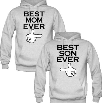 best mom ever and best son ever hoodie