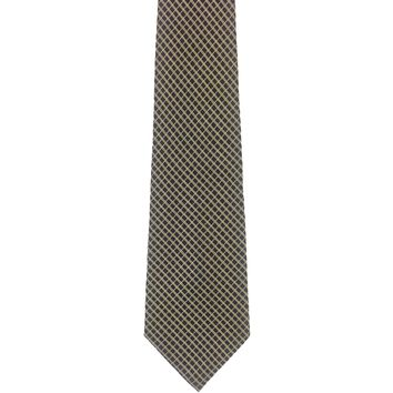 Jones New York Wide Grid Silk Tie - Black