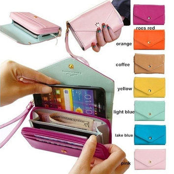 Multifunction Women Leather Wallet Coin Case Purse Long Wallet Handbag For iPhone/Galaxy iPhone 4/5  [10198329479]