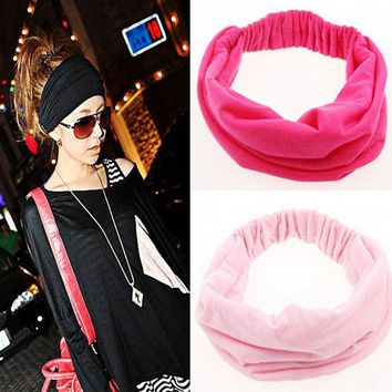 DCCKL3Z 1pcs Wide Cotton Stretch Elastic Beauty Hair Wash Headband Hair Accessories Turban Headwear Bandage Head Hair Band