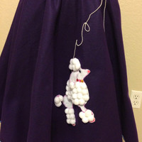 Purple Poodle Skirt Women's Size Large to Extra Large