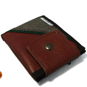 Vegan Wallet Bifold Wallet for Man for Woman with Coin Pocket Billfold Slim Wallet with Coin Pocket - UNUSUAL Wallet