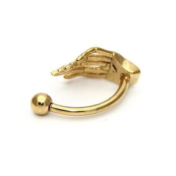 Fashion Ghost Claws Eyebrow Rings Stainless Steel Hand Claws Eyebrow Belly Rings Ear Tragus Body Piercing Jewelry Women Men