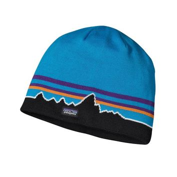 Patagonia Beanie Hat | Classic Fitz Roy: Andes Blue