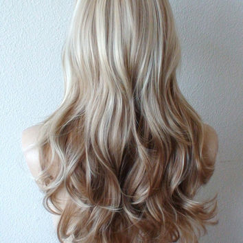Shop brown blonde ombre wig on wanelo platinum blonde brown ombre wig blonde long wavy hair wig fashion wig urmus