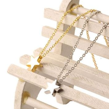 Single Star Necklace (Gold, Silver)