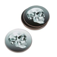 Halloween Skull Coasters, Set of 4
