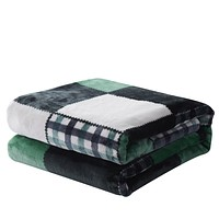 Tache Forest Green Plaid Throw Blanket (4023)