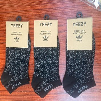 Adidas Yeezy Boost 350 Men Sport Invisible Liner Socks