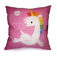 Deluxe Pillow  Rainbow Unicorn Pink by mymimi on Etsy