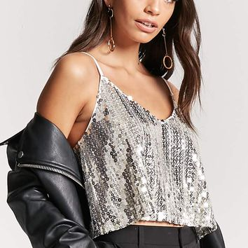 Geo Sequin Crop Cami