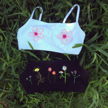 Made to order floral bralette