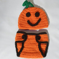 New Pumpkin Costume for Baby on Etsy - Adorable Photo Prop Set - Newborns - MADE TO ORDER