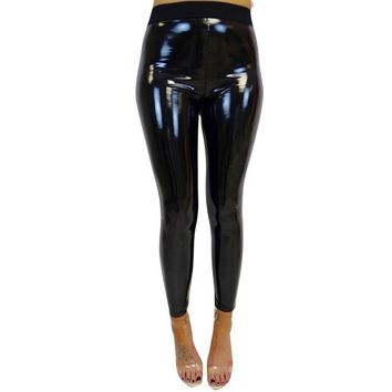Women'S Stretchy Shiny Sporting  Fitness Exercise Leggings