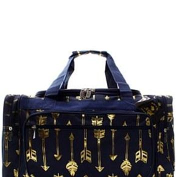 "23"" Arrow Print Duffel - 2 Color Choices"