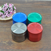 "4 Parts 50mm 1.96'  ""CHROMIUM CRUSHER""  Zinc Alloy Metal Herb tobacco Grinder Spice Crusher Smoke grinder accessories"