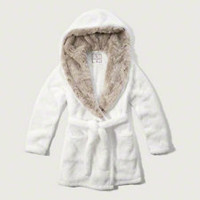 Hooded Faux Fur Robe