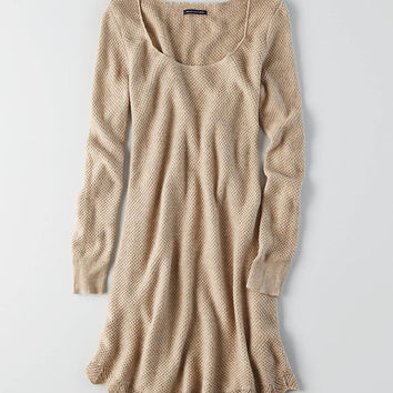 AEO Swing Sweater Dress , Holiday Heather Brown