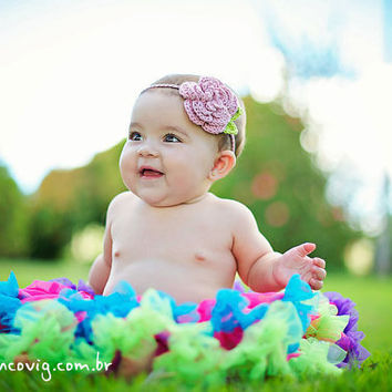 Spring Summer Flower Headband For Newborn to Adult Size by beliz82