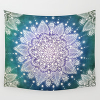 Peacock Mandala Wall Tapestry by Jenndalyn | Society6