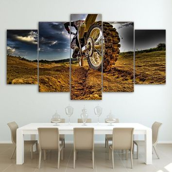 Motocross Dirt Bike Motorcycle Racing Canvas Art
