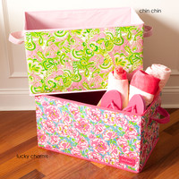 Lilly Pulitzer Organizational Bin - Large