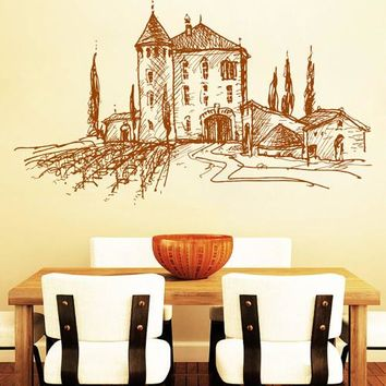 ik2388 Wall Decal Sticker old winery French Italian restaurant kitchen