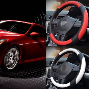 2 Colors Fashion Universal Car Steering Wheel Cover Automotive Accessory Interior Decoration Diameter 38cm Fit Most Styling Cars