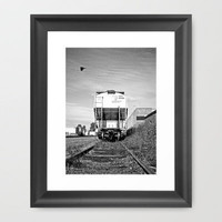 Urban train car Framed Art Print by Vorona Photography | Society6