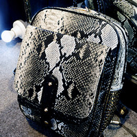 Black Snake Effect Studded Backpack
