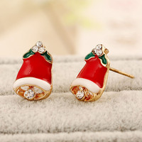 Red Christmas Bell Earrings