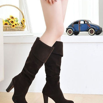 Hot sale high quality Stylish Jackboots 2015 all-match spring/autumn/winter womens fashion casual sexy Russian boot fashion high heel boots women lady over knee platform dropship winter discount shoes students flat fashion black brown long boots size 34-4