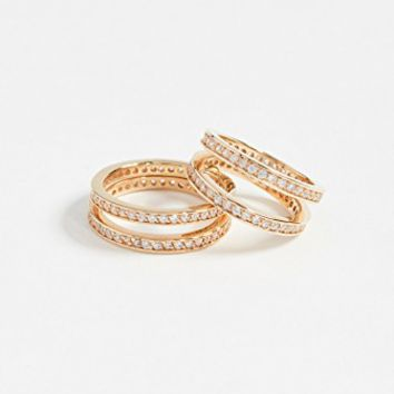 Crisscross Ring Set